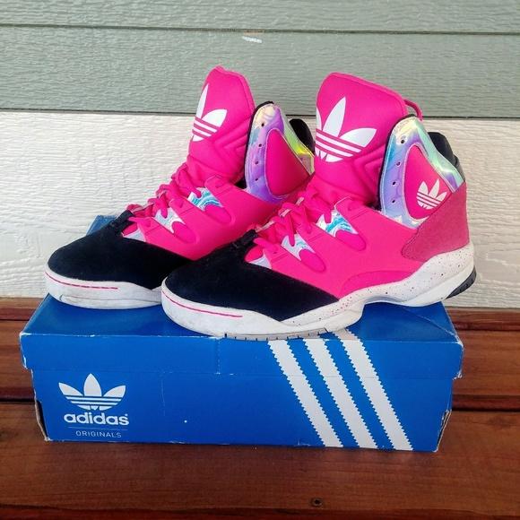 2804566964 Adidas Originals GLC Hot Pink Basketball Sneakers